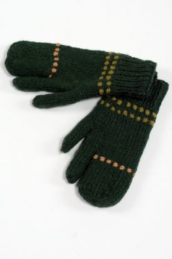 GREEN COFFEE 3 FINGER GLOVES