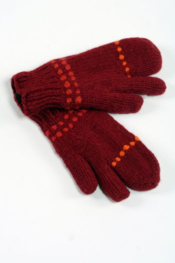 RED ORANGE 3 FINGER GLOVES