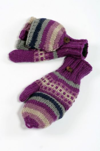 PURPLE RAIN RAINBOW STEP COVER MITTENS