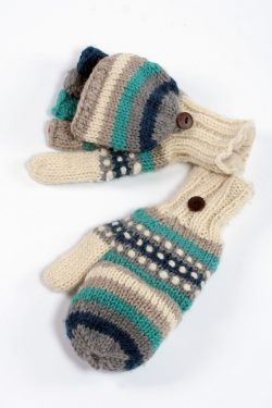 ICE RAINBOW COVER MITTENS
